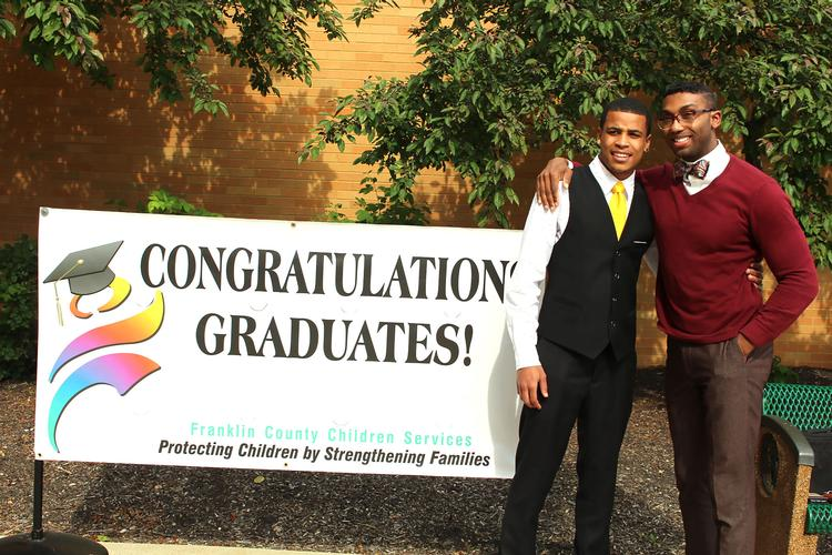 Seth (left) celebrated his graduation with his Simba mentor Claude Russell III.