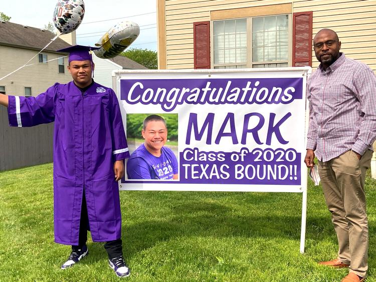 (From Left) Graduate Mark Mayle and His Mentor Fred Lockhart
